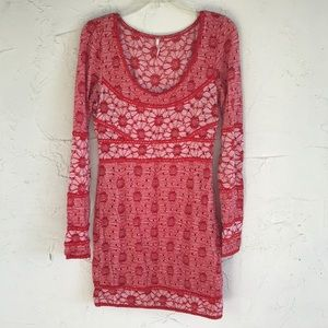 Free people floral sweater dress